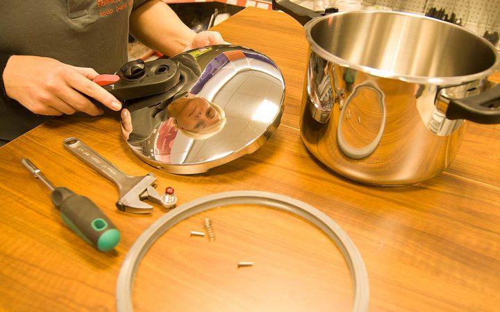 Reparación de ollas a presión