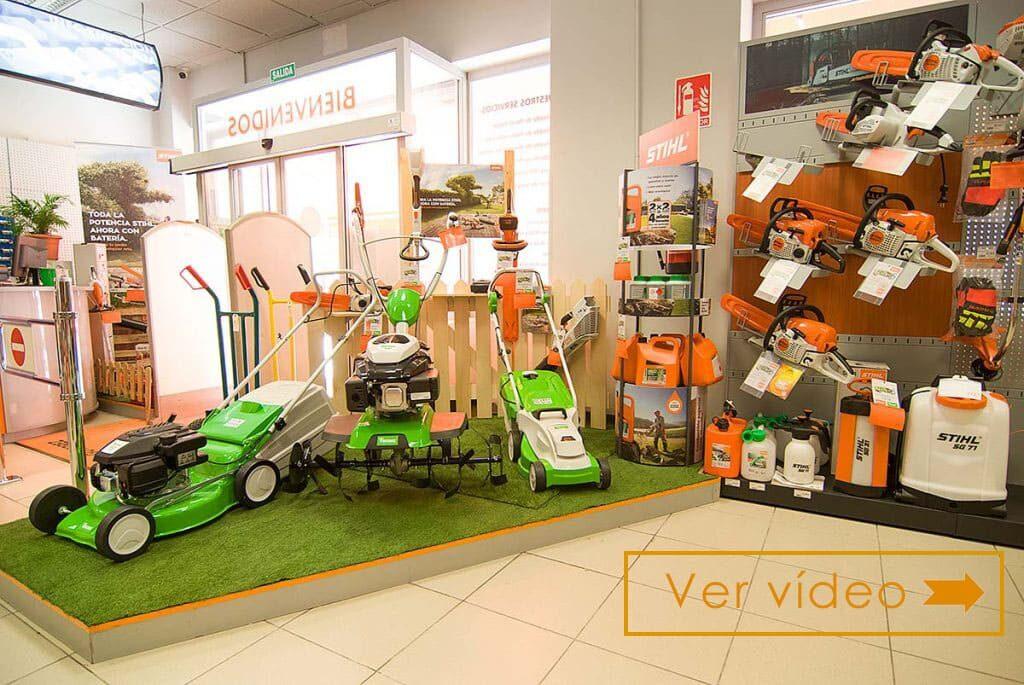 maquinaria de jardinería stihl en valdemoro